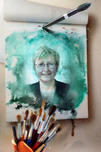 une artiste peintre
